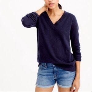 J.crew cashmere navy sweater